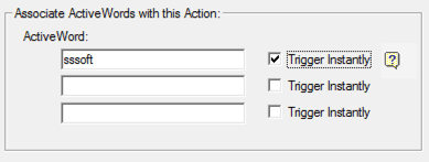 ActiveWords New Trigger