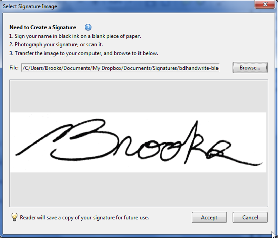 Choose Signature