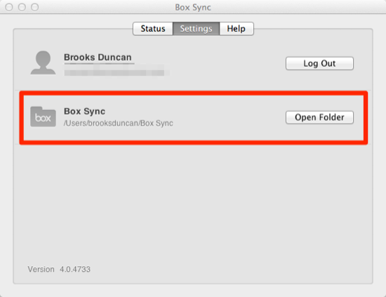 Box Sync Folder Location