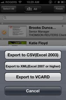 CamCard Export