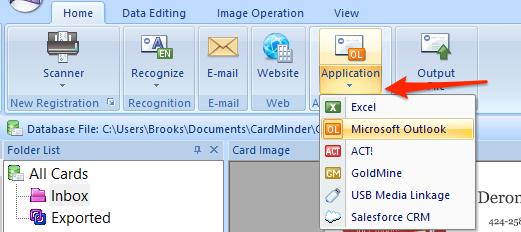 CardMinder Choose Application
