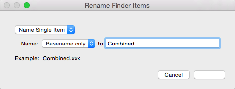 Combine Mac PDF Give Name