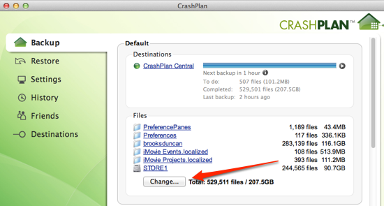 CrashPlan application