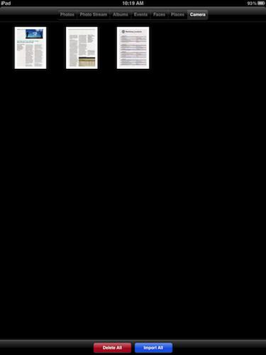 Import documents to iPad