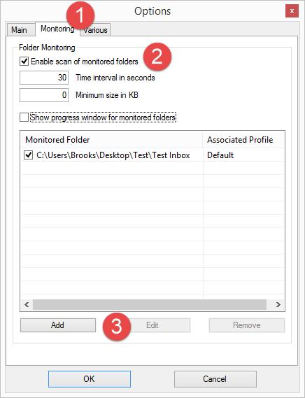 DropIt Monitored Folder