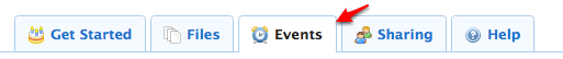 Dropbox Event Menu