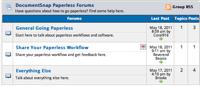 DocumentSnap Going Paperless Forum