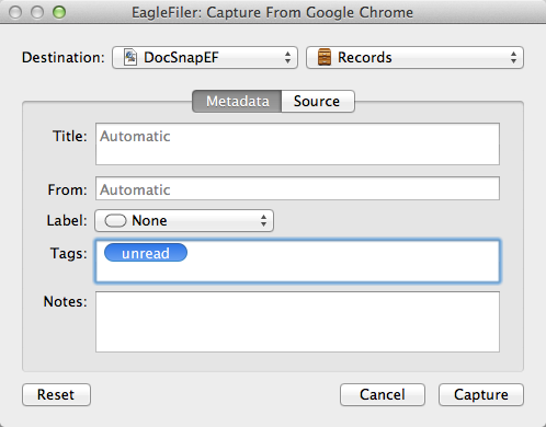 EagleFiler Import Options
