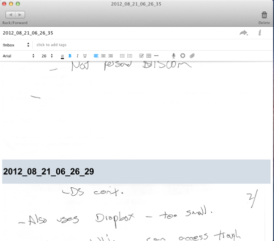 Evernote Merged Notes