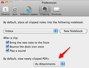 Evernote Default Clipping