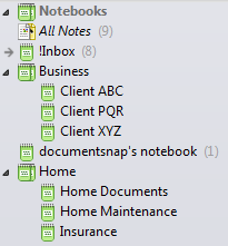Evernote Stacks