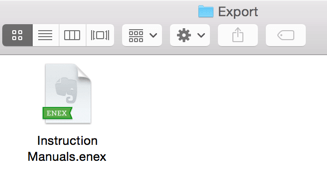 Evernote ENEX Export