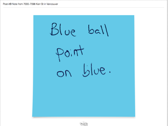 Evernote Post-It Blue Ballpoint