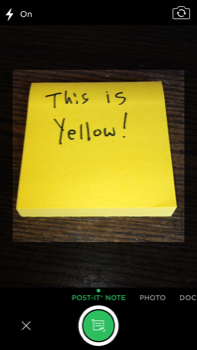 Evernote Post-It Camera