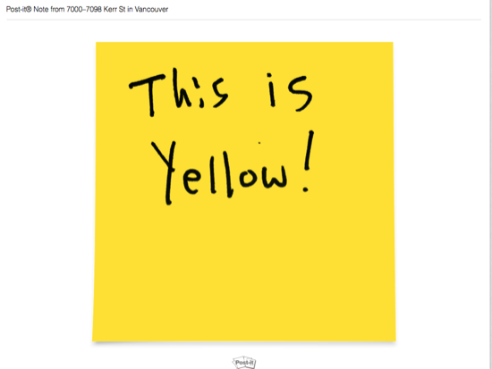 Evernote Post-It Yellow Note
