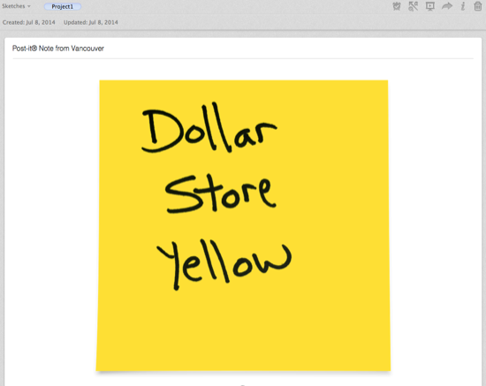 Evernote Sticky Yellow