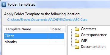 FileCenter folder template