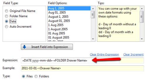 FileCenter naming rule