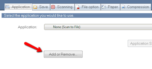 ScanSnap Manager Add Remove Application