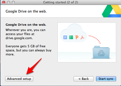 Google Drive Advanced Setup