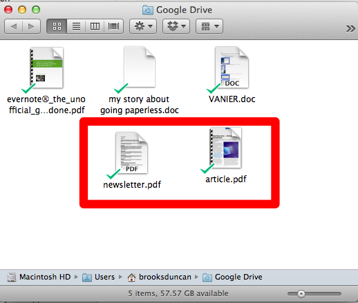 Google Drive Synced