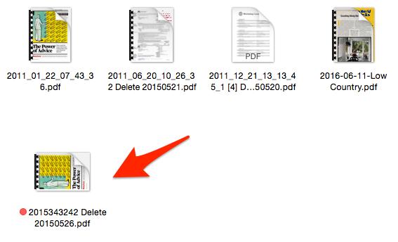 Files After Hazel Rule