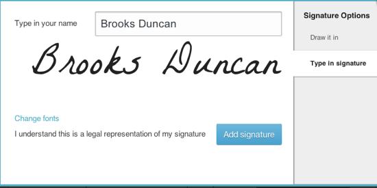 Type Signature
