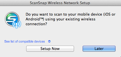 ScanSnap iX500 Want Wireless