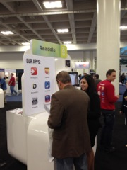 Readdle Booth At Macworld 2014