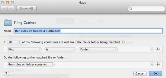 Hazel screenshot