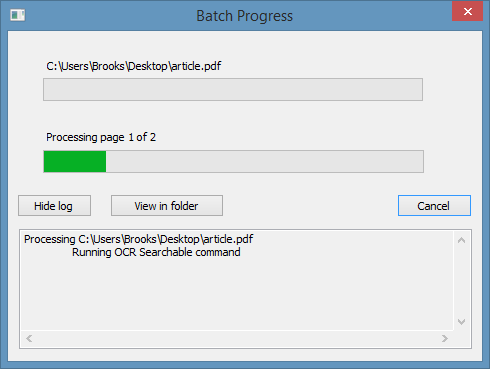 Nitro Batch Processing
