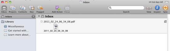 OmniFocus Inbox