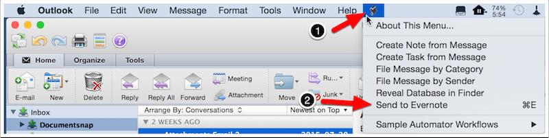 Outlook Mac Script Menu