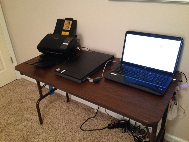 My photo scanning setup