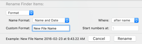 Batch Rename Files Format Name and Date