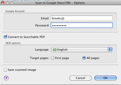 Scan To Google Docs
