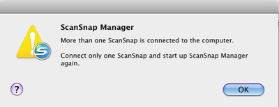 Too Many ScanSnaps