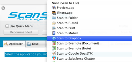 ScanSnap Scan To Dropbox