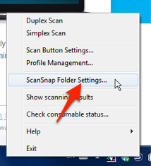 ScanSnap Folder Settings
