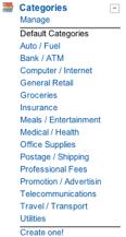 Shoeboxed default categories