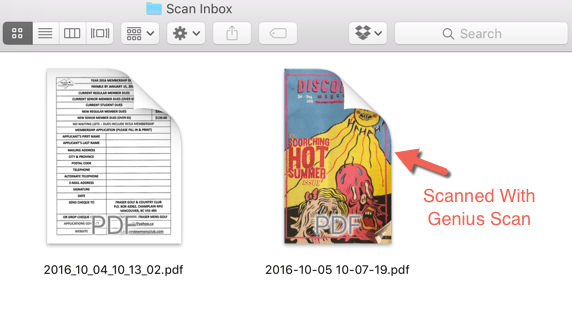 Scan to iCloud Drive - Genius Scan On Mac
