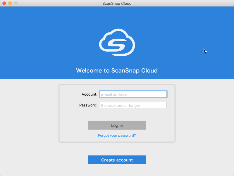 ScanSnap Cloud Signup
