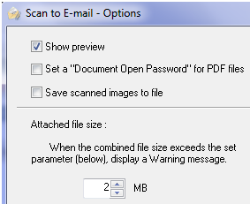 Scan Email Settings