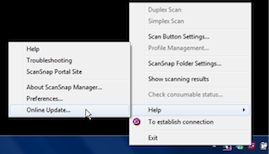 ScanSnap Update Windows