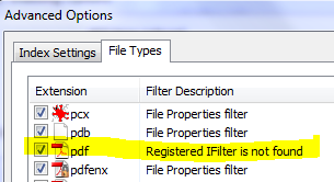 Registered IFilter Is Not Found
