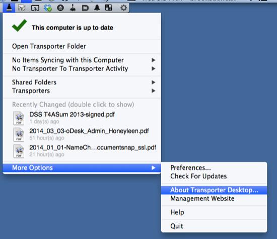 About Transporter Desktop