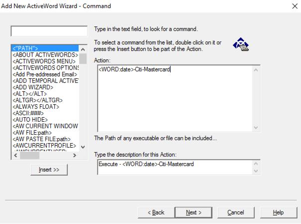 ActiveWords Date Script