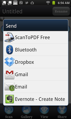 Scan To PDF Share