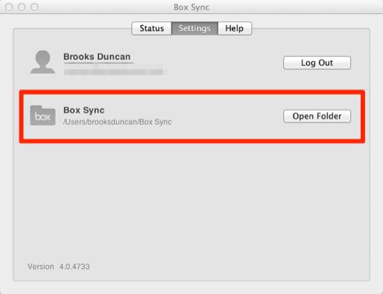 Box Sync Folder Location