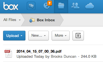 Document in Box account